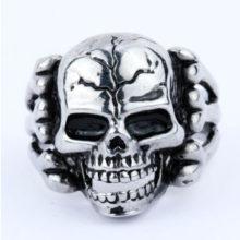 Gothic Skull Vein Biker Zinc Alloy Ring