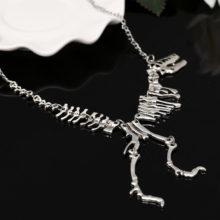 Gothic Tyrannosaurus Rex Skeleton Pendant Necklace