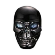 Gothic Biker Stainless Steel Black Skull Cool Man Ring
