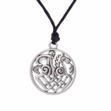 Odin Medallion Amulet Thor Loki Asgard Horse Norse Viking Pendant