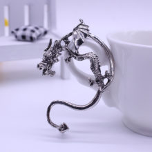 Gothic Punk Dragon Ear Cuff Clip Earring