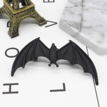 Black Gothic Punk Bat Earrings