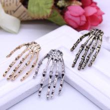 Gothic Punk Wind Skeleton Ghost Hand Earrings
