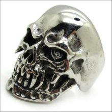 Stainless Steel Ghost Terminator Skull Ring
