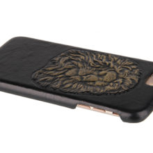 Real Leather Gothic Skull Patterns Phone Case