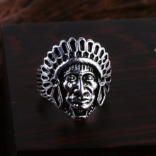 Gothic Indian Chief Biker Zinc Alloy Ring