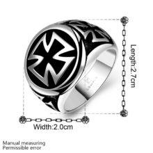 Gothic Stainless Steel Black Celtic Cross Ring