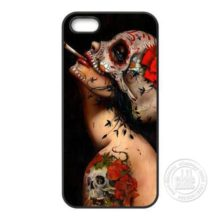 Floral Sugar Skull Tattooed Smoking Lady Phone Case Cover iPhone