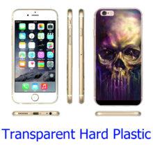 Gothic Old Man Skull Skeleton Hard Transparent Phone Case Cover iPhone