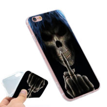 Grim Reaper Gothic Death Angel Middle Finger Silicone Phone Case Cover Iphone