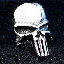 Punisher Skull Ring Gothic Stainless Steel