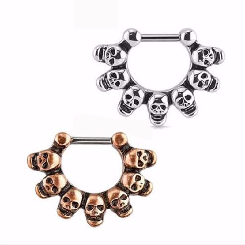 Free Shipping Nose Hoop Nose Rings Daith Septum Skull