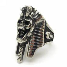 Egyptian Pharaoh Skeleton Style Ring Gothic Punk