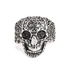 Gothic Men's Skull Biker Zinc Alloy Ring