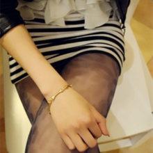 Gothic Golden Skeleton Hand Bone Bracelet