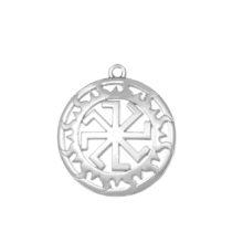 Goth Star of David Sliver Sun Wheel Pendant Bracelet