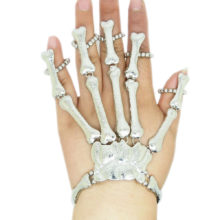 Goth Slave Bones Hand Skeleton Bracelet