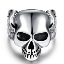 Punk Gothic Titanium Evil Verdomme Skull Ring Various Choices