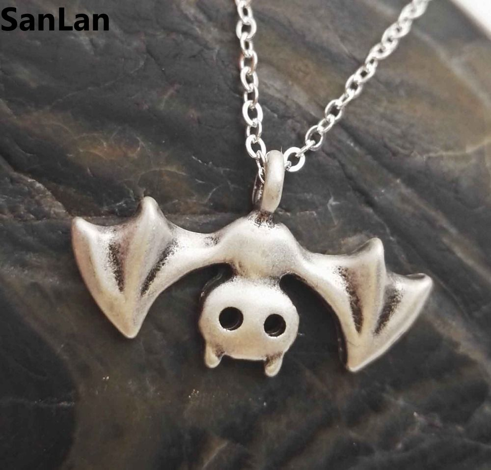 1pcs halloween bat necklace bat jewelry vampire jewelry goth gift goth bat necklace vampire pendant aloadofball Images