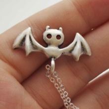 Goth Bat Necklace Vampire Pendant
